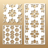 Laser cut panel. Die cut card. Laser cut vector panel. Cutout silhouette with geometric pattern. A picture suitable for printing, engraving, laser cutting paper Royalty Free Stock Photography