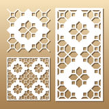 Laser cut panel. Die cut card. Laser cut vector panel. Cutout silhouette with geometric pattern. A picture suitable for printing, engraving, laser cutting paper Royalty Free Stock Photos