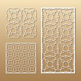 Laser cut panel royalty free illustration