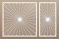 Free Laser Cut Panel. Set Decorative Card For Cutting. Geometry Line Art Pattern. Ratio 1:2, 1:1. Vector Illustration Stock Images - 148876604
