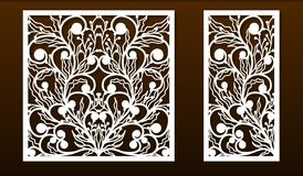 Free Laser Cut Panel Template, Anstract Floral Pattern Stock Photo - 168519200