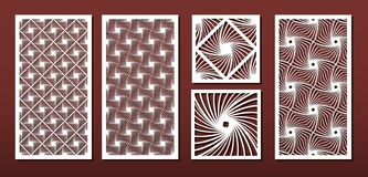 Free Laser Cut Panels, Vector Set For Wood Or Metal Decor,abstract Geometric Pattern Royalty Free Stock Photo - 156994385