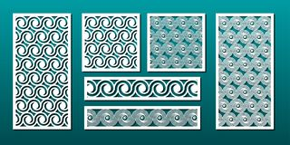 Free Laser Cut Panels, Vector Set For Wood Or Metal Decor, Abstract Geometric Pattern Royalty Free Stock Image - 156995846