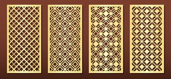 Free Laser Cut Panels, Vector Set For Wood Or Metal Decor, Arabic Geometric Pattern Royalty Free Stock Photography - 156993587