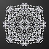 Laser cut paper heart vintage pattern vector. Laser cut paper diamond heart vintage pattern vector royalty free illustration