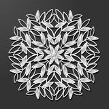 Laser cut paper vintage pattern vector. Laser cut paper diamond flower vintage pattern vector vector illustration