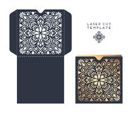 Laser cut template Royalty Free Stock Photos