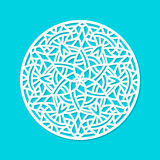 Laser cut vector mandala ornament. Cutout pattern silhouette with abstract shapes. Die cut element Stock Image