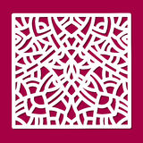 Laser cut vector ornament Stock Photography