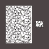 Laser cut vector panel and the seamless pattern for decorative panel royalty free stock photography