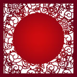 Laser cut vector template Stock Images