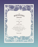 Laser cut vector wedding invitation with orchid flowers for decorative panel Royalty Free Stock Photo