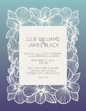 Laser cut vector wedding invitation with orchid flowers for decorative panel Royalty Free Stock Photography