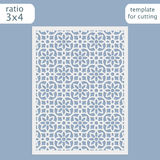 Laser cut wedding invitation card template.  Cut out the paper card with lace pattern.  Greeting card template for cutting plotter Stock Photography