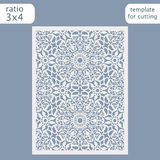 Laser cut wedding invitation card template.  Cut out the paper card with lace pattern.  Greeting card template for cutting plotter. Vector Royalty Free Stock Images
