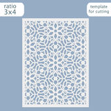 Laser cut wedding invitation card template.  Cut out the paper card with lace pattern.. Greeting card template for cutting plotter. Vector Royalty Free Stock Images