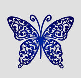 Laser cut wedding place cards, vector cutout butterfly. Royalty Free Stock Photos