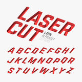 Laser cutted letters. Alphabet illustration Royalty Free Stock Photo