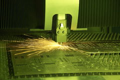 Laser cutter Royalty Free Stock Photo