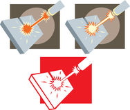 Laser cutter icon Stock Photo