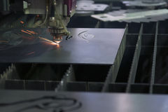 The laser cutter machine Stock Image