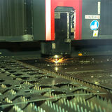 Laser cutting Stock Image