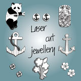 Laser cutting jewelry Royalty Free Stock Photo