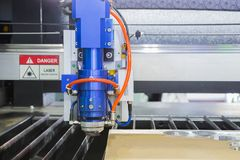 The Laser cutting machine. For acrylic sheet Royalty Free Stock Photo