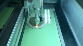 Laser cutting machine stock video