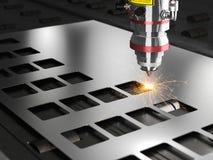 Laser cutting machine. 3d rendering royalty free illustration