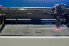 Laser cutting machine Royalty Free Stock Photo