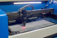 Laser cutting machine Royalty Free Stock Image