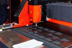 Laser cutting machine royalty free stock photography