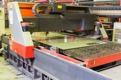 Laser cutting machine Stock Images