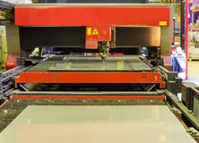Laser cutting machine Stock Photos