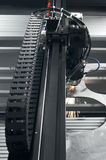 Laser cutting machine. A part of Laser cutting machine Royalty Free Stock Images