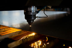 Laser cutting machine parts Royalty Free Stock Photo