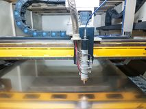 A laser cutting machine ready for work stock photo