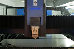 Laser Cutting machine working in factory Stock Image