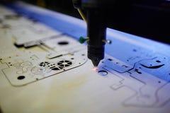 Laser Cutting Machine in Workshop Royalty Free Stock Image