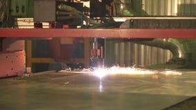 Laser Cutting of Metal stock video
