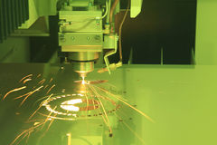 Laser cutting of metal Royalty Free Stock Image