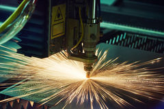Laser cutting metalwork Royalty Free Stock Photo