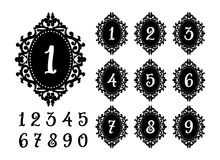 Laser cutting numbers template for the festive table. Stock Image