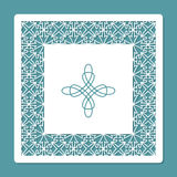 Laser cutting and printing template. Decorative carved panel. Card for greeting cards, invitations, photos, and more. Royalty Free Stock Photo