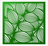 Laser cutting square panel. Openwork floral pattern with tropical leaves. Perfect for gift box silhouette ornament, wall. Laser cutting square panel. Openwork vector illustration