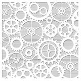 Laser cutting of stencils. For decorative art. Background template For cards, invitations and presentations. Gears pattern illustration royalty free illustration