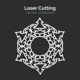 Laser Cutting Template. Christmas Round Card. Die Cut Mangala. Cutout Illustration With Ornamental Lace Decoration For Wedding Invitation Cards. Vector Design vector illustration