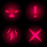 Laser danger icon Royalty Free Stock Images