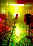 Laser dans une boîte de nuit Photographie stock libre de droits